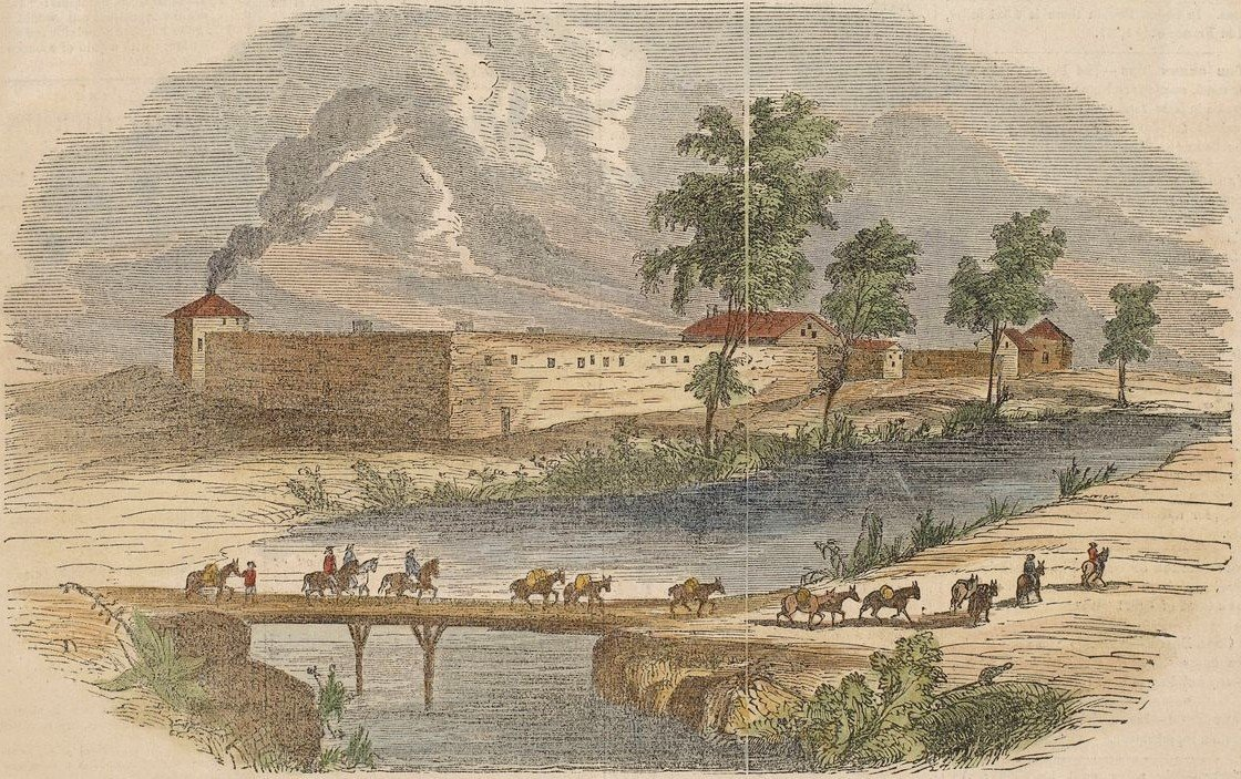 Sutters Fort from Gleasons Pictorial Drawing Room Companion