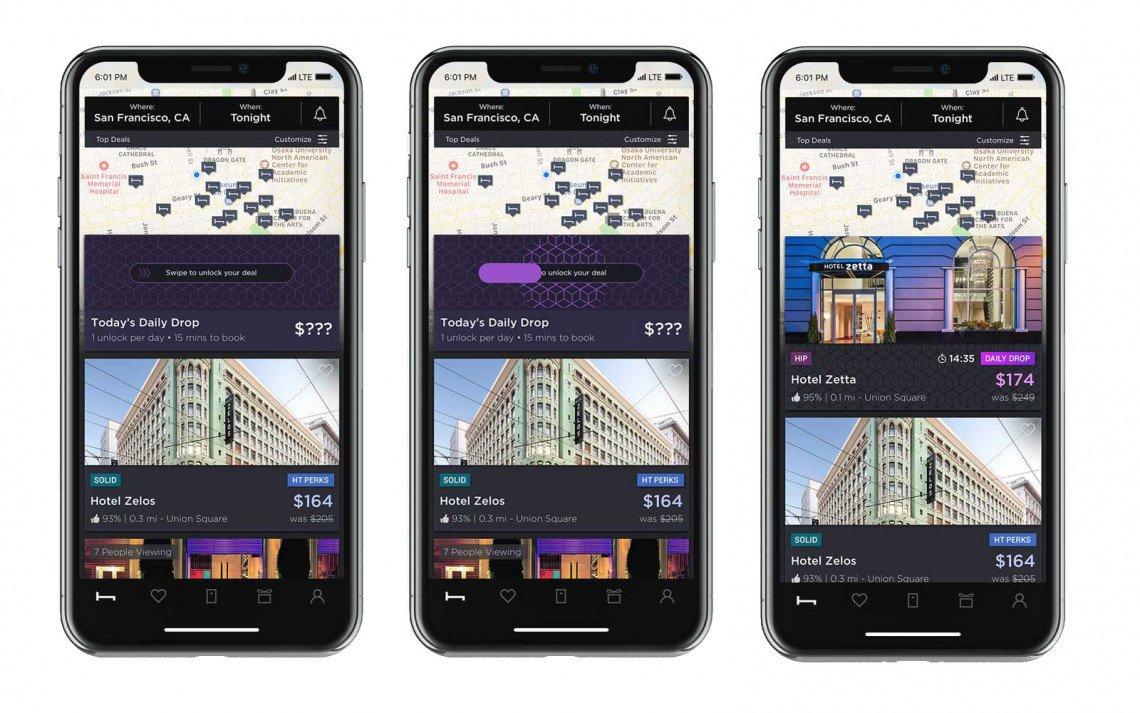 hoteltonight app screen